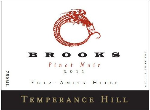 2011 Brooks Temperance Hill Pinot Noir Eola-Amity Hills 750 Ml
