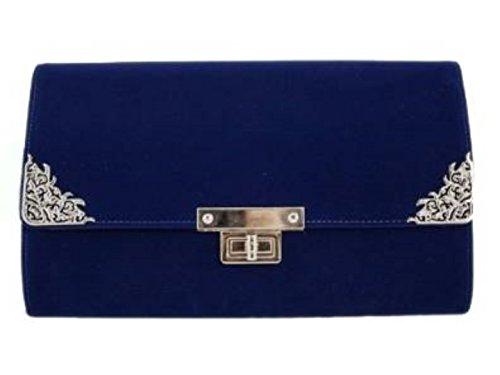 Girly Handbags Women'S Oversized Clutch Bag (Dark Blue)