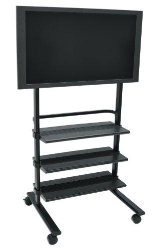 H.Wilson Heavy-Duty Universal Flat Panel Mobile LCD Plasma Monitor TV Stand
