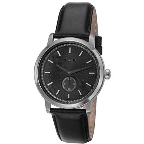 Joop! Konstantin JP101601002 - Reloj para hombres, correa de cuero color negro