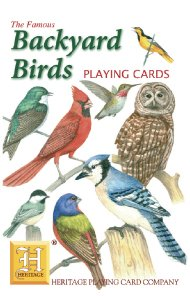 Backyard Birds Standard Poker Playing Card Deck featuring all of yoru favorite garden birds from Cardinal, to Owl and many more