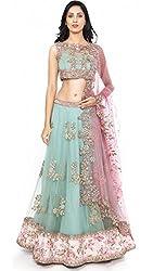 Shree Ganesh Women's Designer Multi-Coloured Silk Semi-Stitched Lahenga Choli [L2fog2_Multi-Coloured]