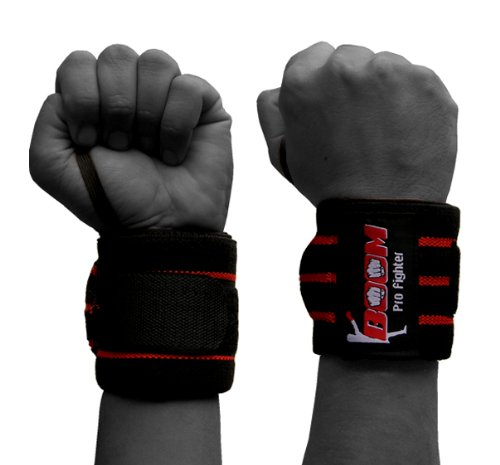BOOM PRO Weight Lifting Wrist Support,Boxing,MMA,Martial Arts,Karate,Wrist support
