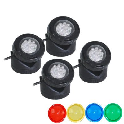 40w Halogen Submersible Light for Water Gardens and Ponds, Set of 4