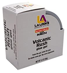 La Looks Gel Glue Mens Volcanic Rush 3.5oz Jar (2 Pack)