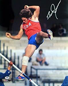 Buy Bruce Jenner Autographed Signed 16x20 Photo Pole Vault - PSA DNA Certified - Autographed Sports Photos by Sports Memorabilia