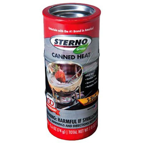 Sterno 2.6-Ounce Entertainment Cooking Fuel, 3-Pack (Can Cooking compare prices)