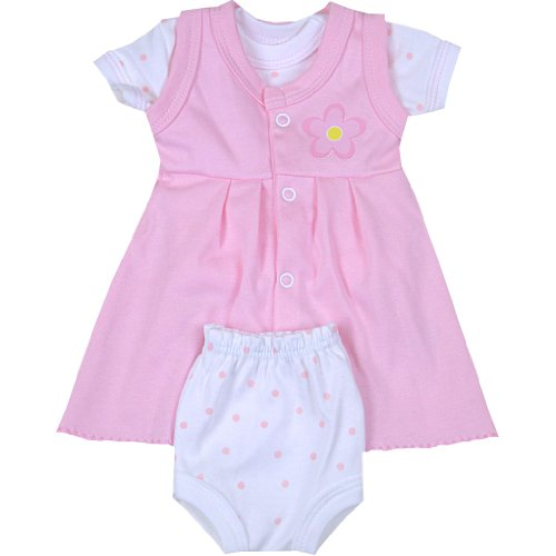 Premature Early Baby Clothes Pink Dress, Spotty T Shirt & Pants Set 1.5 - 7.5lb