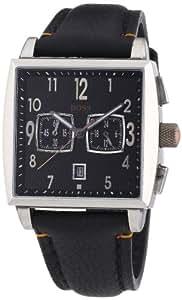 Hugo Boss - 1512144 - Montre Homme - Quartz Chronographe - Chronomètre - Bracelet Cuir Noir