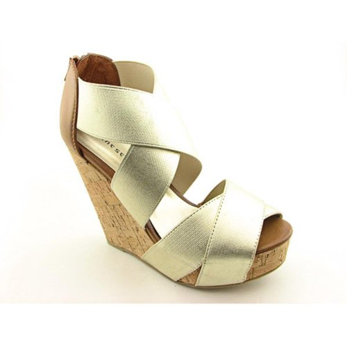 Chinese Laundry Women's Dig It Wedge Sandal,Light Gold,7 M US