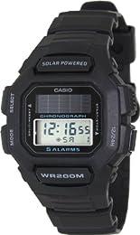 Casio Men's Core HDDS100-1AV Black Resin Quartz Watch with Digital Dial