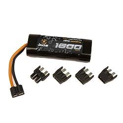 Bias 7.2V 6 Cell 1600mAh 2/3A NiMH Battery Flat Pack RC Traxxas Deans EC3 Tamiya