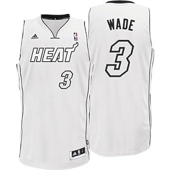 Miami Heat Dwyane Wade Cultural White Black Swingman Jersey By Adidas by adidas
