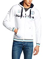 Geographical Norway Sudadera con Cierre Goldenflash (Blanco / Azul Marino)
