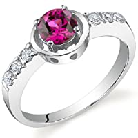 Sleek and Classy 0.75 carats Ruby Ring in Sterling Silver Size 5 to 9 Free Shipping