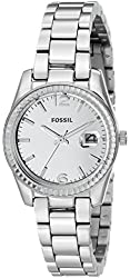 Fossil Women's ES3762 Perfect Boyfriend Small Stainless Steel Watch with Link Bracelet