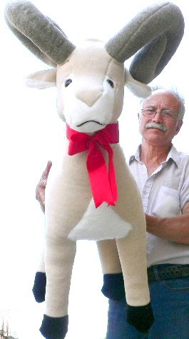 BIG 3-FEET-TALL LIFESIZE STUFFED RAM- 30