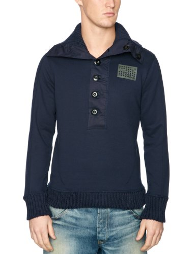 G-Star Defence Half Vest Long Sleeve Men's Jumper Naval Blue Small