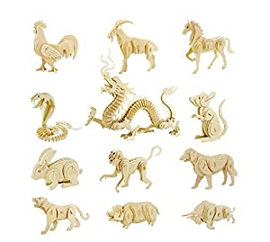 Coeus 3d Wooden Puzzle / DIY Model - The Chinese Zodiac -Educational