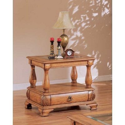 Image of End Table With Beveled Glass Top By Coaster Furniture (VF_AZ01-13408)