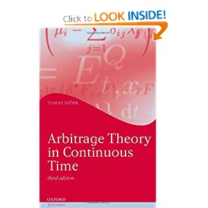 Arbitrage theory in continuous time Tomas Bj?rk