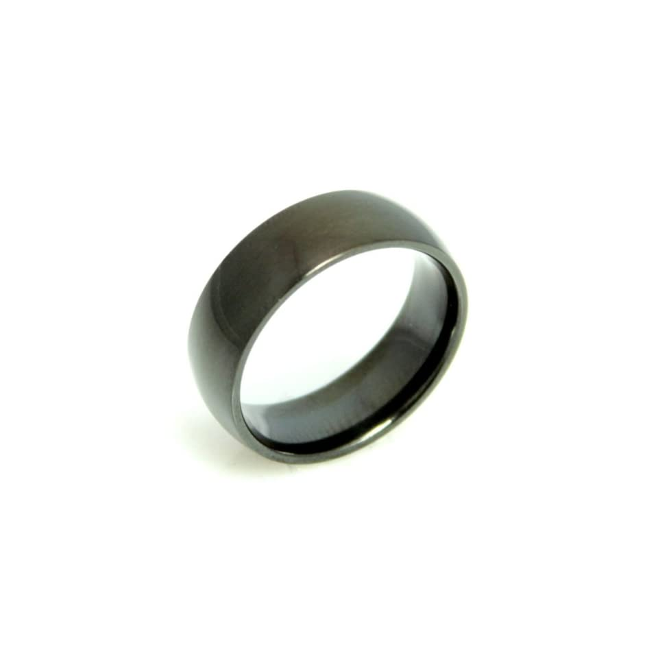 Mens Black Plate Ring / High quality stainless steel ring / Jewelry for men / Gifts for him. Hypo allergenic