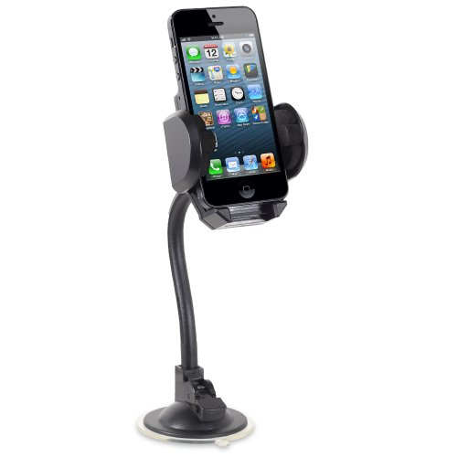 Fosmon Gooseneck Windshield / Dash Car Mount For Nokia Lumia 800 - Black