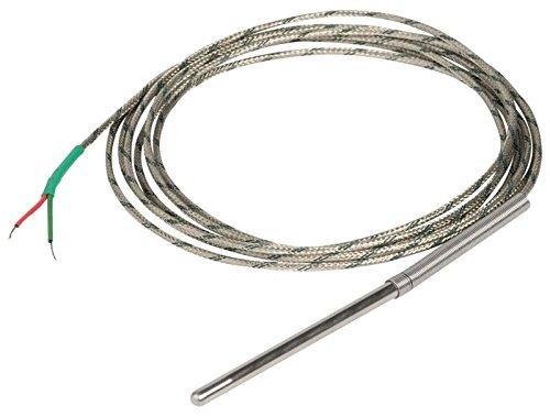 Vemer-VJ44410000-Temperatursonde-Thermoelement-mit-2-Leiter-Sensor-zur-Temperaturmessung-Kabellnge-3-m-Cr-Al-K-Durchmesser-6-mm-Temperatursonde-0-400-C