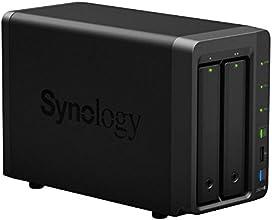 SYNOLOGY DS214+ - Servidor NAS de 8 TB (1.3 GHz, eSATA, 3 x USB), negro