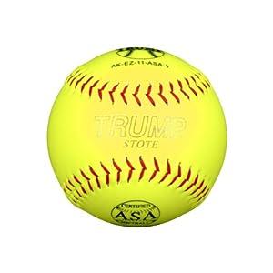 Buy 1 Dozen ASA Trump Stote 11 Softballs - 44cor .375 Compression (AK-EZ-11-ASA-Y) 12... by Trump/Evil Sports
