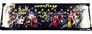 *36X AUTOGRAPHEDClass of 2011 Goodyear SIGNED NASCAR Driver Group Photo 11X33 Poster... by Trackside Autographs