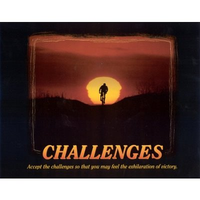 Challenges (Bicyclist) Art Poster- 16x20 custom fit with RichAndFramous Black 20 inch Poster Hangers