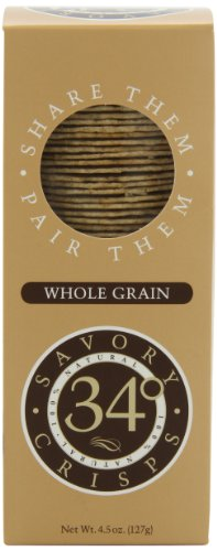 34 Degrees Whole Grain Crispbread, 4.5-Ounce Boxes (Pack of 6)