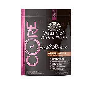 Wellness CORE Natural Grain Free Dry Dog Food,Small Breed Original Formula Turkey and Chicken Recipe,4-Pound Bag