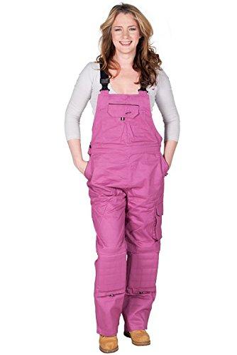 Rosies-Damen-Latzhose-Dunkelrosa-Arbeits-Latzhosen-Fr-sie-jeanslatzhose