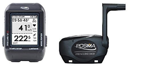 POSMA D2 GPS Wireless Cycling Bike Computer Speedometer Odometer Bundle with BCB20 Speed/Cadence Sensor support Navigation, ANT+ connection, GPX file upload to STRAVA and MapMyRide (Ant Cycling Computer compare prices)