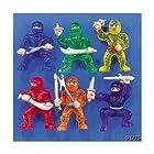 Ninja Warrior Small Plastic Toys, 48 Pieces