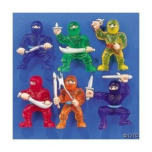 Fun Express Vinyl Ninja Warrior Toys - 48 Pieces
