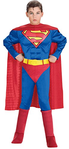 Rubie's DC Heroes Muscle Chest Superman Costume, Small Child