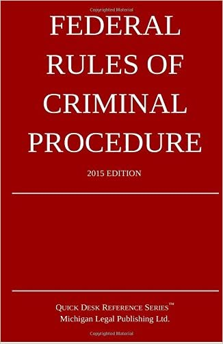 Federal Rules of Criminal Procedure; 2015 Edition: Quick Desk Reference Series