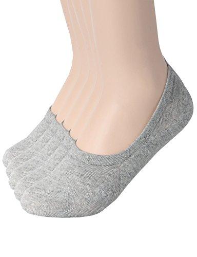 zando-mujer-casual-antideslizante-corte-bajo-flat-tobillo-line-calcetines-de-color-solido
