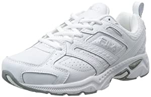 Fila Women's Capture Running Shoe,White/White/Metallic Silver,8.5 W US