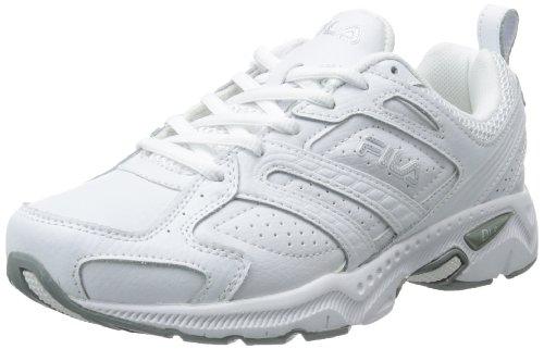 Fila Women's Capture Running Shoe,White/White/Metallic Silver,7 W US