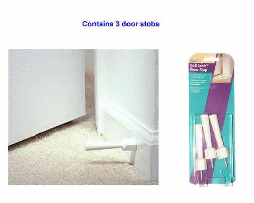 Soft Jamb Door Stops Color: White - 1