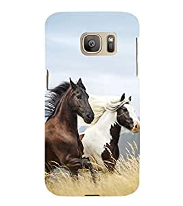 printtech Nature Animal Horse Stallion Back Case Cover for Samsung Galaxy S7 edge / Samsung Galaxy S7 edge Duos with dual-SIM card slots