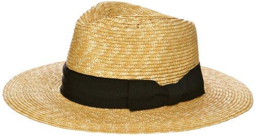 Helene Berman Straw Trilby with Bow Women's Hat
