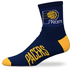 Indiana Pacers Team Logo Quarter Sock by For Bare Feet