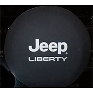 2002-2005 Jeep Liberty Cloth Spare Tire Cover, Cloth - Black Denim Mopar Part #82207586