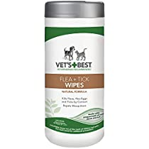 Vet's Best Flea and Tick Wipes for Dogs & Cats, 6x8 in, 50 Wipes