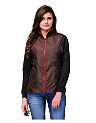 Yepme Women's Brown Polyester Jacket-YPMJACKT5025_XS
